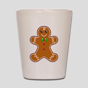 Gingerbread Man Shot Glass