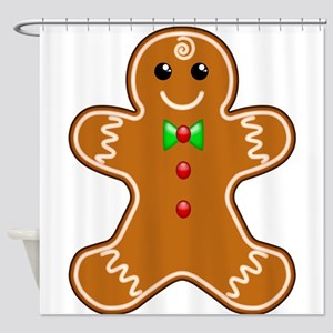 Gingerbread Man Shower Curtain