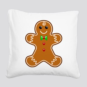 Gingerbread Man Square Canvas Pillow