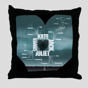 2-LostLoveDiagram Throw Pillow