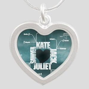 2-LostLoveDiagram Silver Heart Necklace