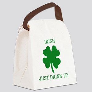 Drink It Canvas Lunch Bag