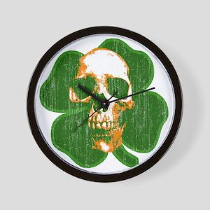 irish skull Wall Clock