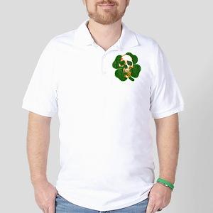 irish skull Golf Shirt