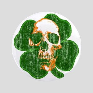 "irish skull 3.5"" Button"
