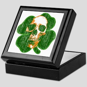 irish skull Keepsake Box
