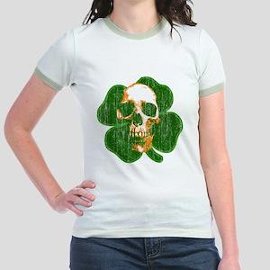 irish skull Jr. Ringer T-Shirt