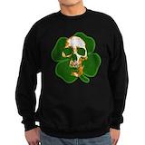 Irish skull Crewneck Sweatshirts