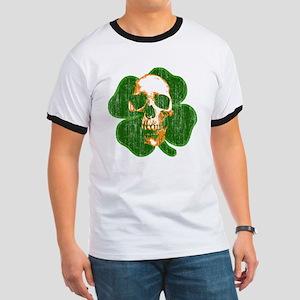 irish skull Ringer T