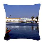 Portugal Seaside Woven Throw Pillow