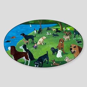 Sunday Park custom Sticker (Oval)