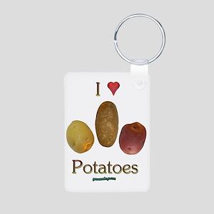 iluv_potatoes Aluminum Photo Keychain