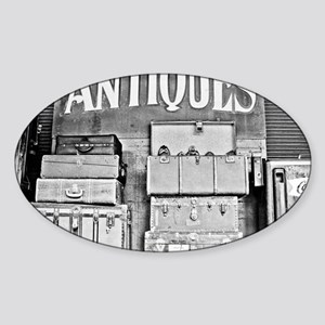 Antique Luggage Sticker (Oval)