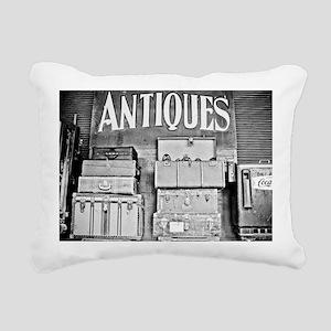 Antique Luggage Rectangular Canvas Pillow