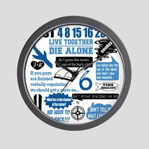 lost-quotes-forlights Wall Clock