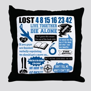 lost-quotes-forlights Throw Pillow