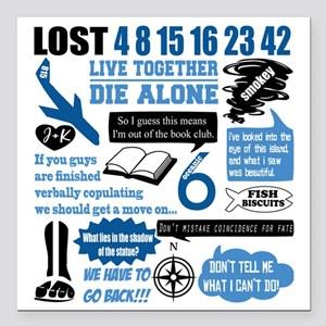 """lost-quotes-forlights Square Car Magnet 3"""" x 3"""""""