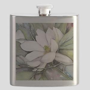 White Magnolia Flask