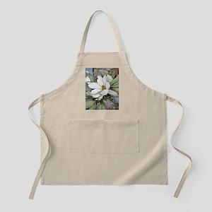 White Magnolia Apron