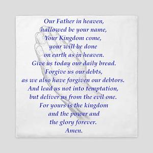 The LORDs Prayer Lt Blue Queen Duvet