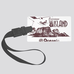 losttv_maroon Large Luggage Tag