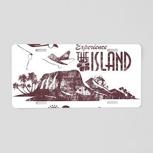 losttv_maroon Aluminum License Plate