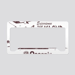 losttv_maroon License Plate Holder