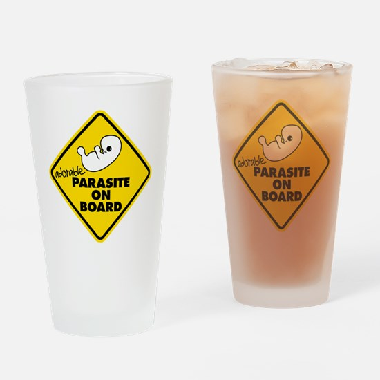 Parasite On Board Drinking Glass