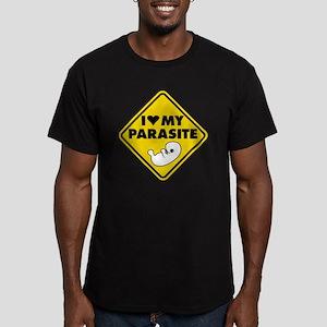 I LOVE My Parasite Men's Fitted T-Shirt (dark)