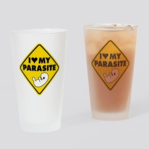I LOVE My Parasite Drinking Glass