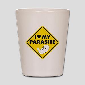 I LOVE My Parasite Shot Glass