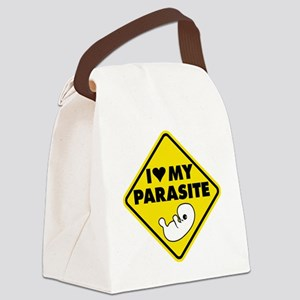I LOVE My Parasite Canvas Lunch Bag