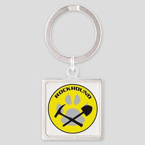 NEWrockhound-sticker Square Keychain