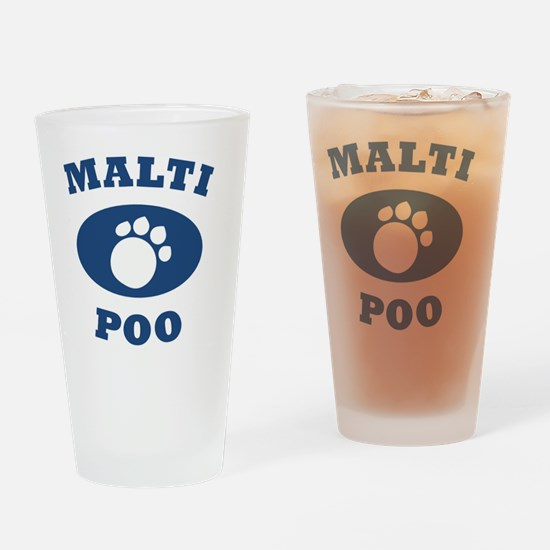 maltipoo.gif Drinking Glass