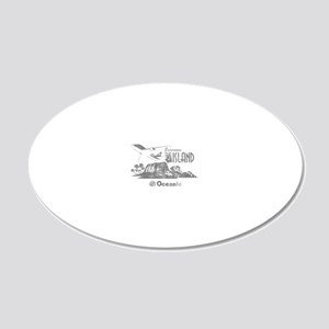 losttv_gray 20x12 Oval Wall Decal
