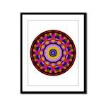 Quilted Wagon Wheels Mandala Framed Panel Print