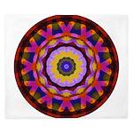Quilted Wagon Wheels Mandala King Duvet
