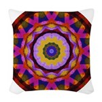 Quilted Wagon Wheels Mandala Woven Throw Pillow