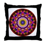 Quilted Wagon Wheels Mandala Throw Pillow