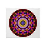 Quilted Wagon Wheels Mandala Throw Blanket