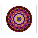 Quilted Wagon Wheels Mandala Small Poster