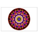 Quilted Wagon Wheels Mandala Large Poster