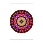 Quilted Wagon Wheels Mandala Mini Poster Print