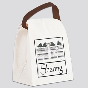 Sharing 10x10 Apparel Template Canvas Lunch Bag