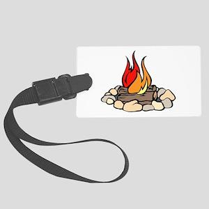 Campfire Luggage Tag
