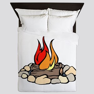 Campfire Queen Duvet