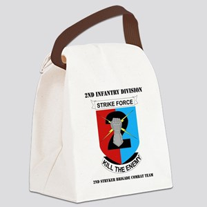 DUI-2ND IN DIV-2 BCT WITH TEXT Canvas Lunch Bag