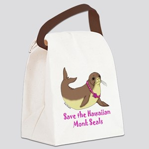 monk seal Canvas Lunch Bag