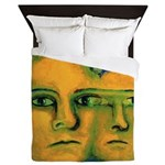 Anticipation Absract Golden Goddess Queen Duvet