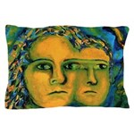 Anticipation Absract Golden Goddess Pillow Case